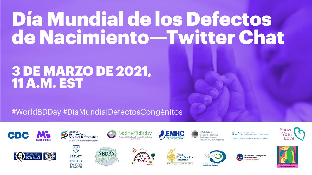 Día Mundial de los Defectos de Nacimiento: Twitter chat